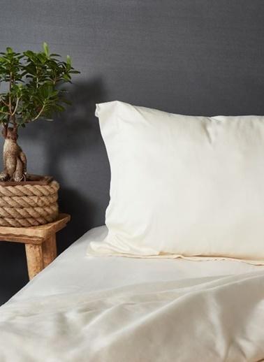 Hibboux 200x220 Dream Pure Pamuk Saten Nevresim + Yastık Kılıfı - Ecru Renkli